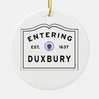 Ornement Rond En Céramique Accueil à la ville de Duxbury mA