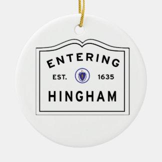 Ornement Rond En Céramique Accueil à la ville de Hingham mA