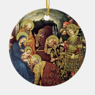 Ornement Rond En Céramique Adoration des Magi des Magi (c1370-1427) dans