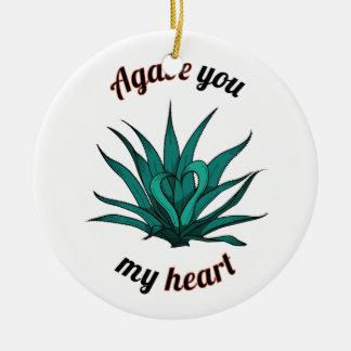 Ornement Rond En Céramique agave vous mon coeur