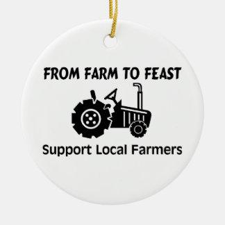 Ornement Rond En Céramique Agriculteurs de soutien de la ferme à régaler