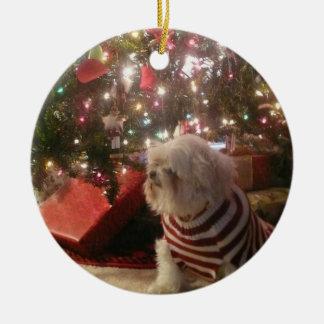Ornement Rond En Céramique Ajoutez l'ornement d'arbre de Noël de