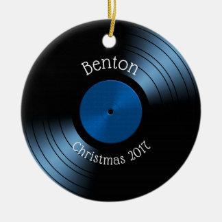 Ornement Rond En Céramique Album de disque vinyle - rétro disque les années