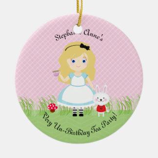 Ornement Rond En Céramique Alice et son thé
