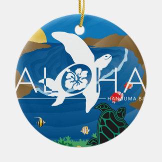 Ornement Rond En Céramique Aloha baie d'Hawaï Hanauma