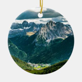 Ornement Rond En Céramique Alpes de dolomites, Italie