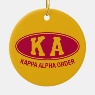 Ornement Rond En Céramique Alpha cru de l'ordre   de Kappa