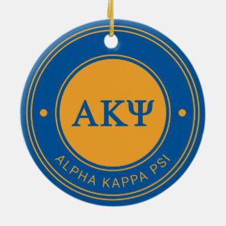 Ornement Rond En Céramique Alpha insigne de livre par pouce carré   de Kappa