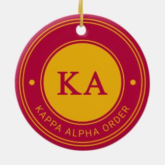Ornement Rond En Céramique Alpha insigne de l'ordre   de Kappa