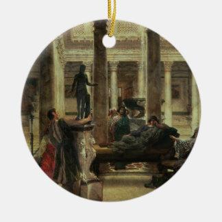 Ornement Rond En Céramique Amant d'art romain d'Alma-Tadema  , 1870