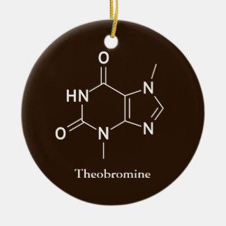 Ornement Rond En Céramique Amants de chocolat de chimie de molécule de