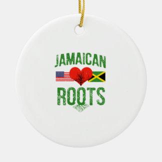 Ornement Rond En Céramique Américain jamaïcain