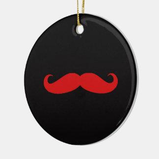 Ornement Rond En Céramique amour de moustache