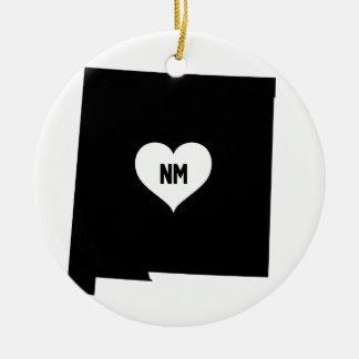 Ornement Rond En Céramique Amour du Nouveau Mexique