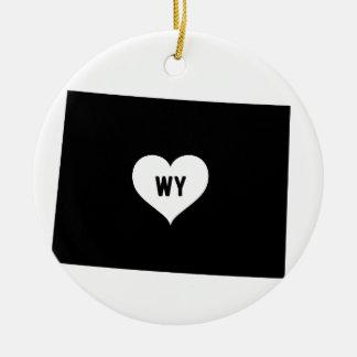 Ornement Rond En Céramique Amour du Wyoming