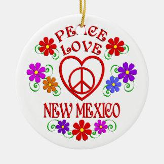 Ornement Rond En Céramique Amour Nouveau Mexique de paix