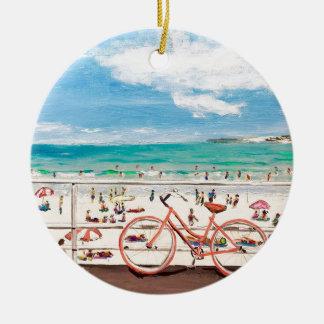 Ornement Rond En Céramique Amusement de plage de Bondi