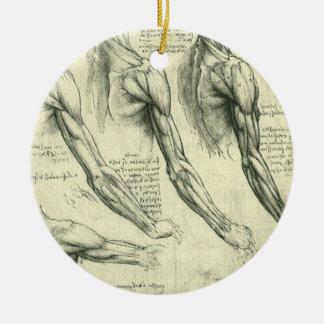 Ornement Rond En Céramique Anatomie de bras et d'épaule par Leonardo da Vinci