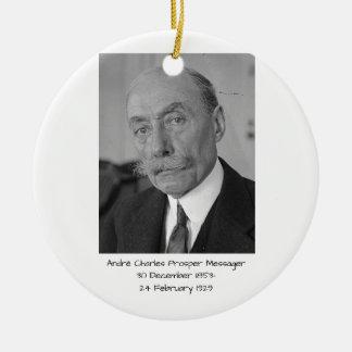 Ornement Rond En Céramique André Charles prospèrent Messager