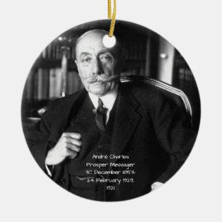 Ornement Rond En Céramique André Charles prospèrent Messager 1921