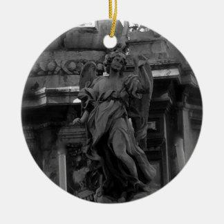 Ornement Rond En Céramique Ange à Palerme, Sicile