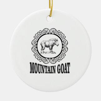 Ornement Rond En Céramique anneau de la chèvre de montagne