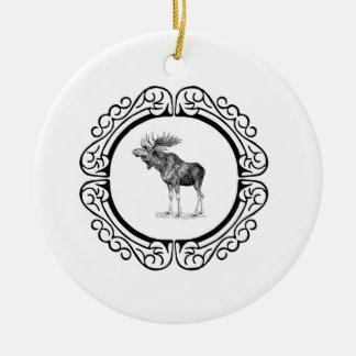 Ornement Rond En Céramique anneau des orignaux de taureau