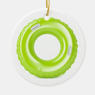 Ornement Rond En Céramique Anneau vert de bain