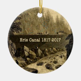 Ornement Rond En Céramique Années bicentenaires historiques de canal d'Erie