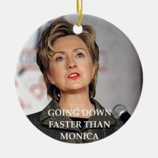 Ornement Rond En Céramique anti hillary Clinton