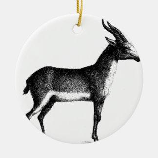 Ornement Rond En Céramique Antilope de Saiga