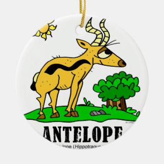 Ornement Rond En Céramique Antilope par Lorenzo Traverso