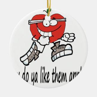 Ornement Rond En Céramique apple4 fonctionnant