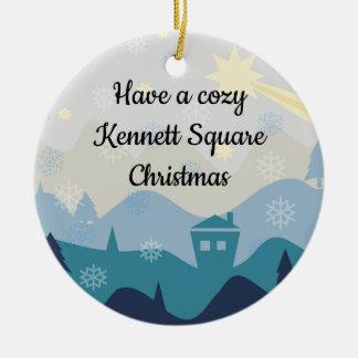 Ornement Rond En Céramique Arbre de Noël de Kennett/ornement carrés
