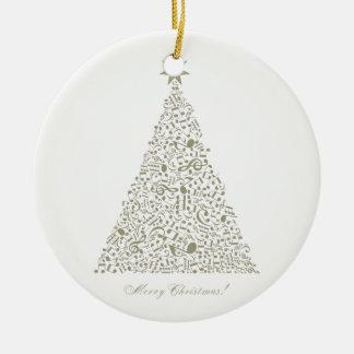 Ornement Rond En Céramique Arbre de Noël musical