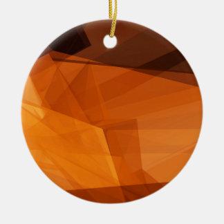 Ornement Rond En Céramique Arrière - plan abstrait d'orange pour la