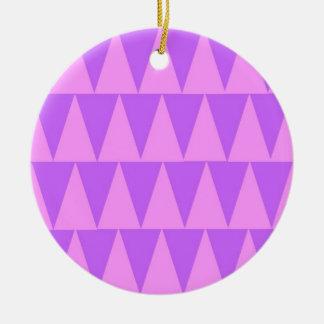 Ornement Rond En Céramique Arrière - plan rose de pourpre de triangles