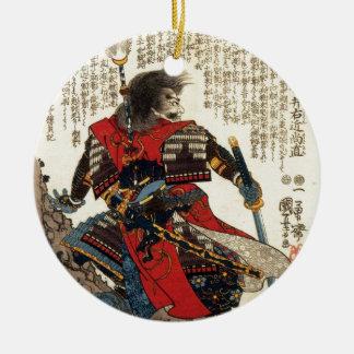 Ornement Rond En Céramique Art classique oriental de guerrier de cool