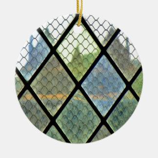 Ornement Rond En Céramique Art de fenêtre