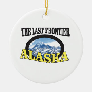 Ornement Rond En Céramique art de logo de l'Alaska