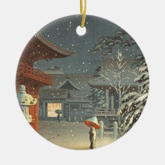 Ornement Rond En Céramique Art de Shin Hanga de vente de tombeau de Koitsu