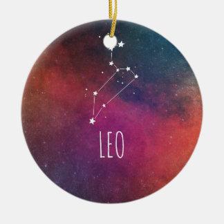 Ornement Rond En Céramique Astrologie de Lion
