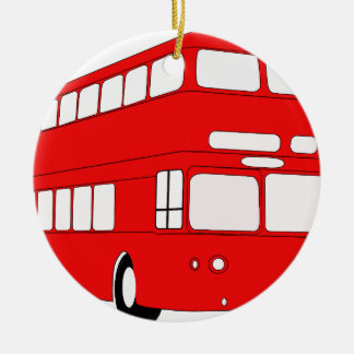Ornement Rond En Céramique autobus