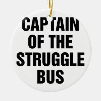 Ornement Rond En Céramique Autobus de lutte