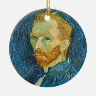 Ornement Rond En Céramique Autoportrait de Vincent van Gogh |, 1889