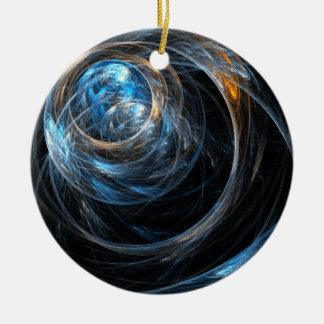Ornement Rond En Céramique Autour de l'ornement de cercle d'art abstrait du
