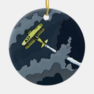 Ornement Rond En Céramique avion