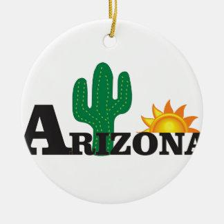 Ornement Rond En Céramique Az de cactus