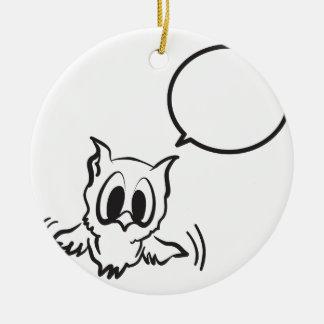 Ornement Rond En Céramique baby_owl.ai