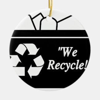 Ornement Rond En Céramique Bac de recyclage